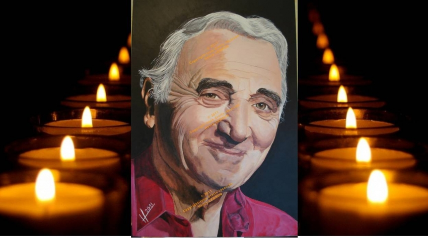 Charles Aznavour by lhommeloiret
